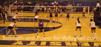 Volleyball rotations and lineups
